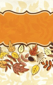 Fall Deco Church Bulletin Cover