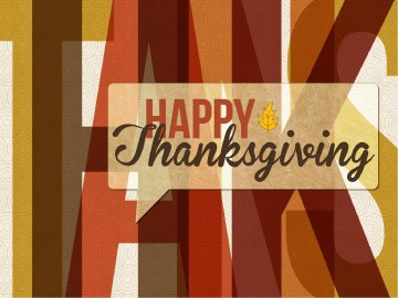 Happy Thanksgiving Art PowerPoint