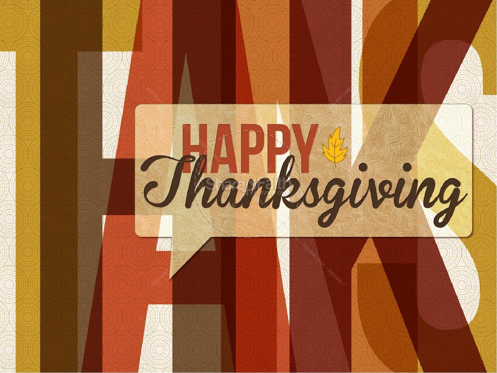 Happy Thanksgiving Art PowerPoint