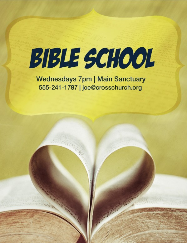 Bible School Flyer Templates