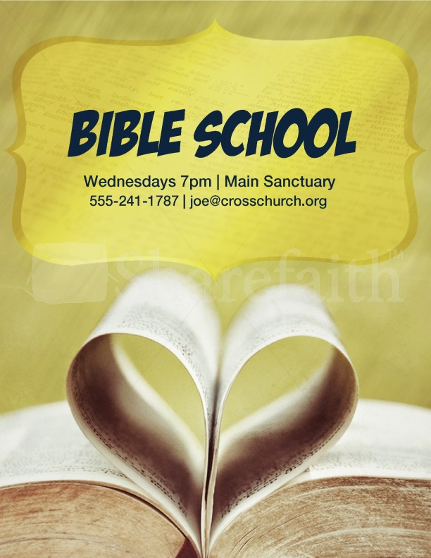 bible school flyer templates template flyer templates. Black Bedroom Furniture Sets. Home Design Ideas