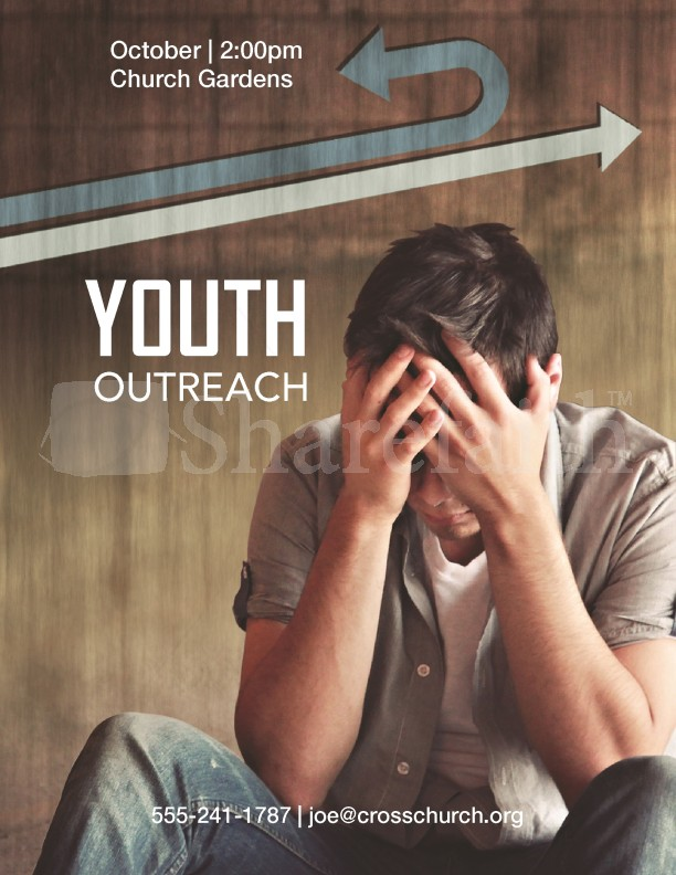 outreach youth flyer templates template