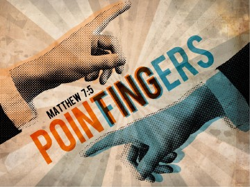 Pointing Fingers Church PowerPoint Template
