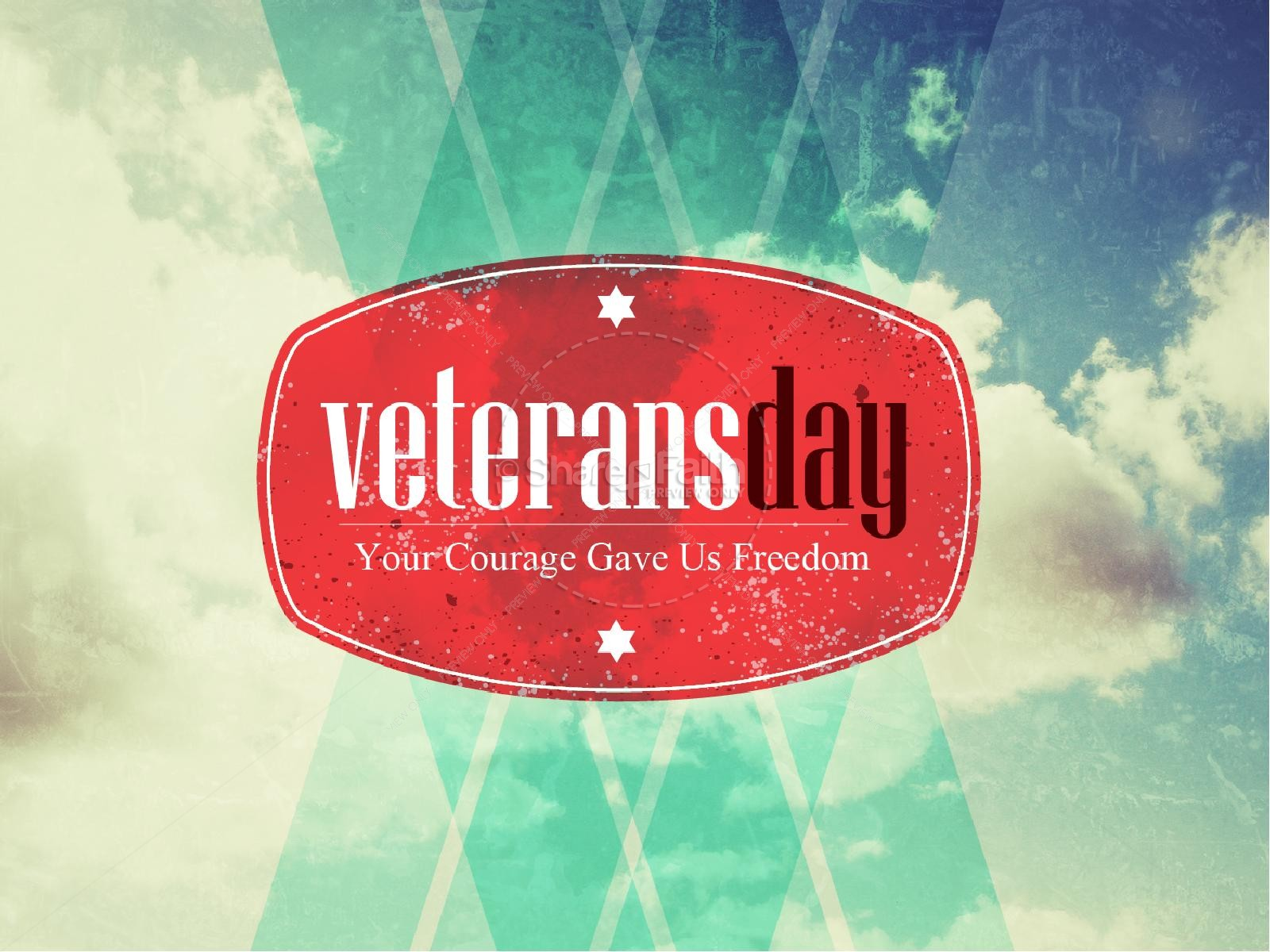 courage and freedom veterans day powerpoint | powerpoint sermons, Powerpoint templates