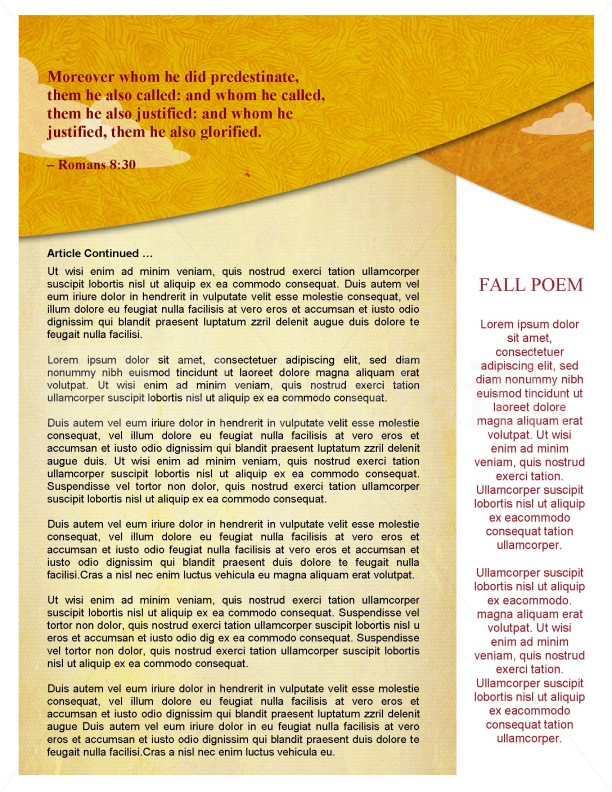 Fall Forest Newsletter Template | page 2