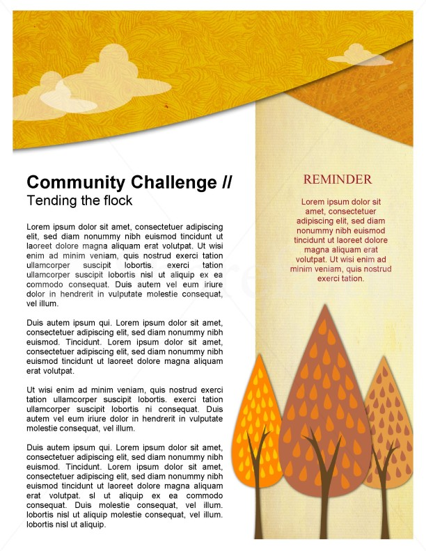 Fall Forest Newsletter Template Template | Newsletter Templates