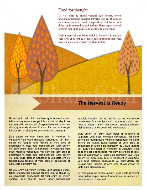 Fall Forest Newsletter Template | page 4
