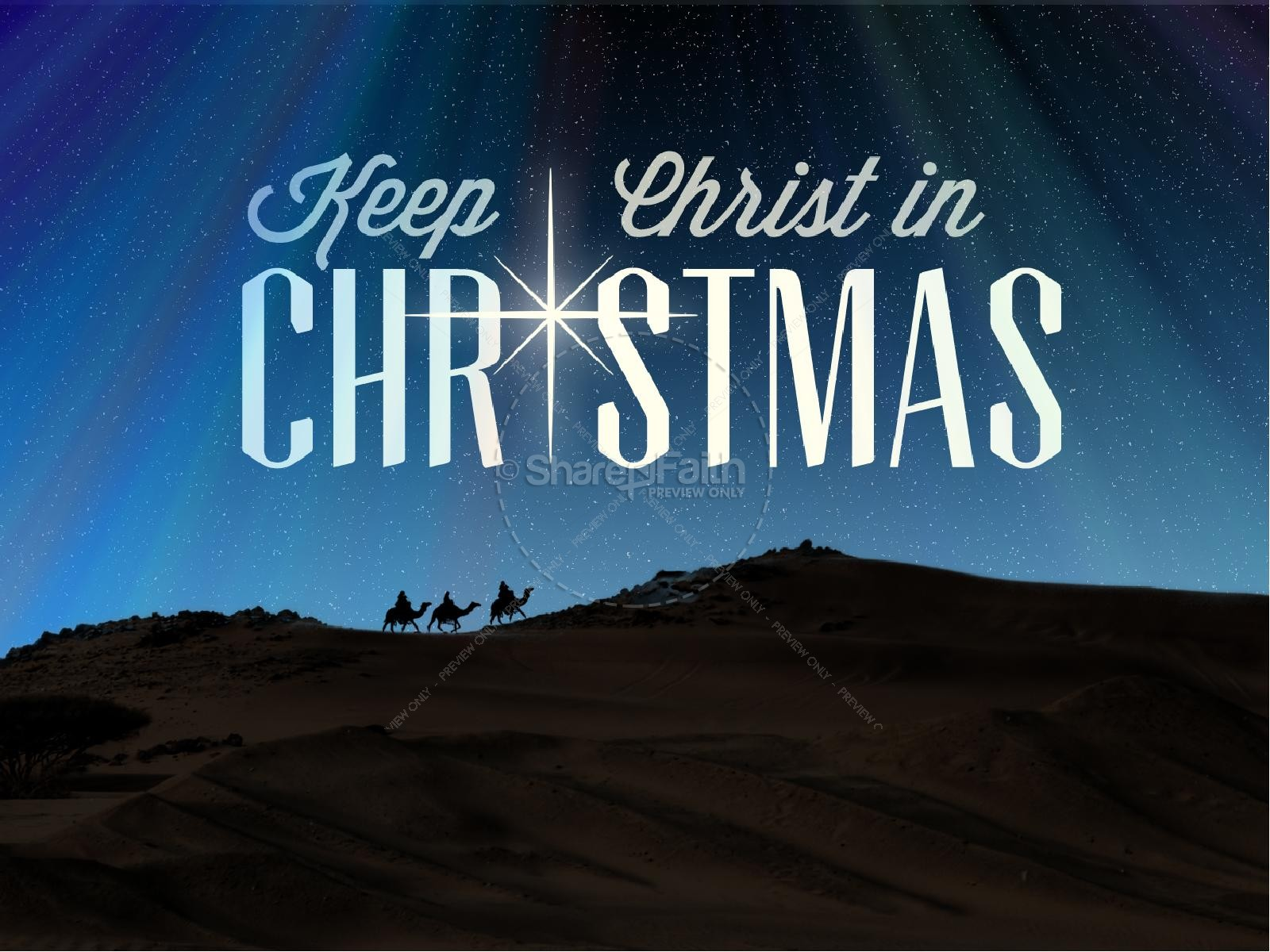 Keep Christ in Christmas PowerPoint Sermon