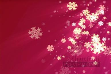 Snowflake Motion Worship Loop