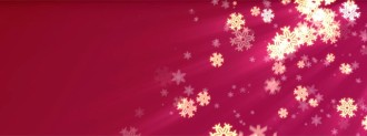 Christmas Snowflakes Triple Wide Video Loop