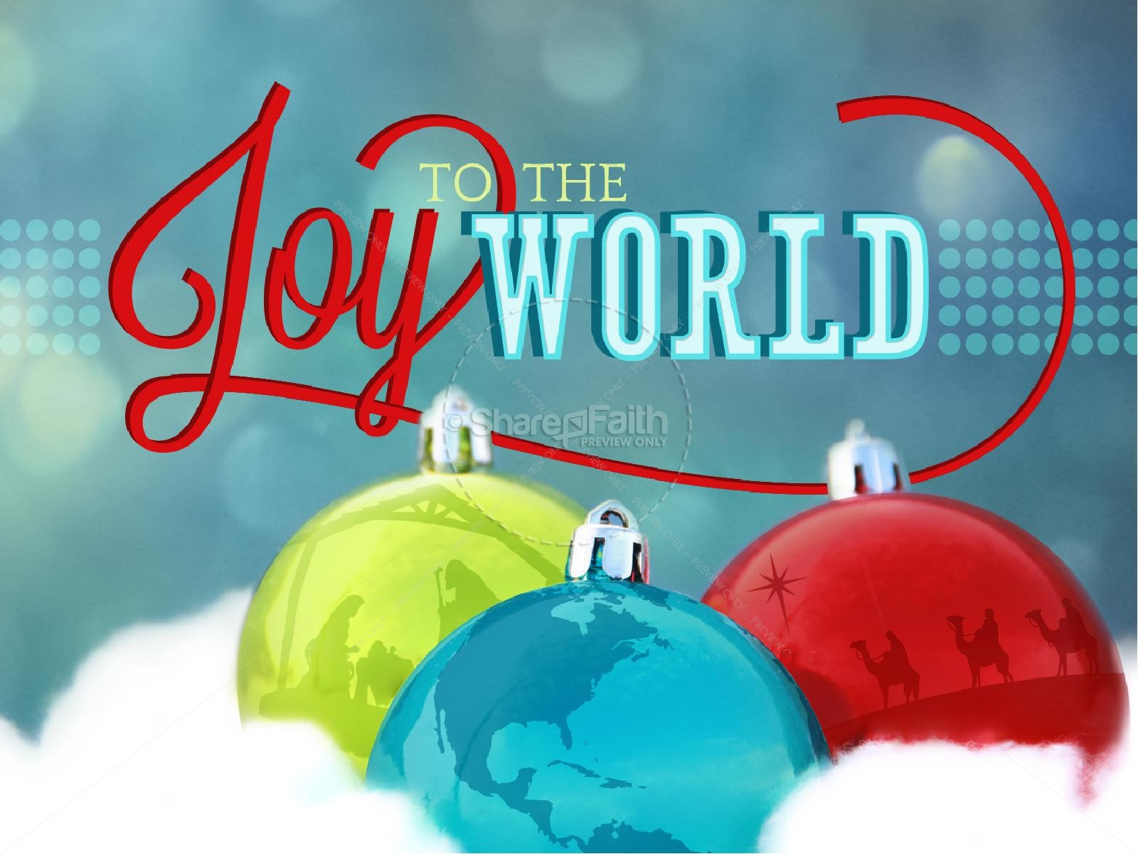 Joy to the World PowerPoint Template Christmas