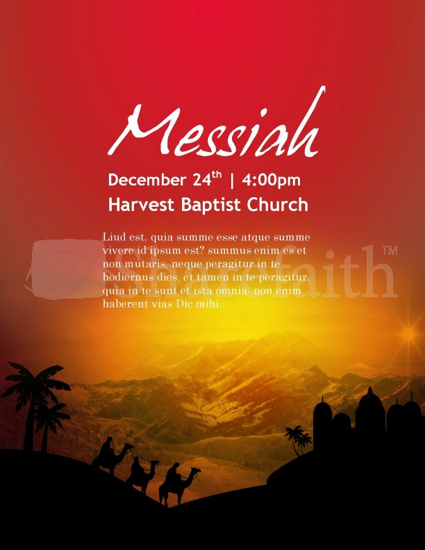 Messianic Flyer Template Nativity
