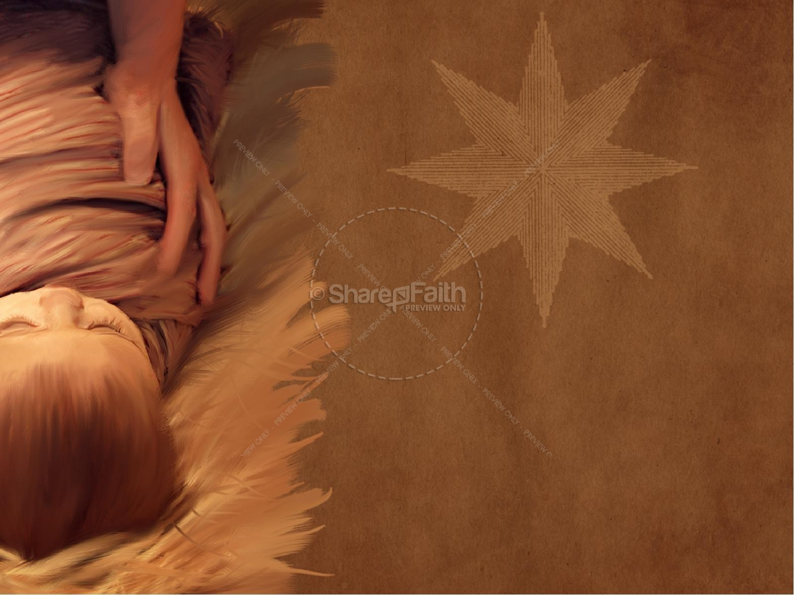 Nativity Birth of Jesus PowerPoint Template