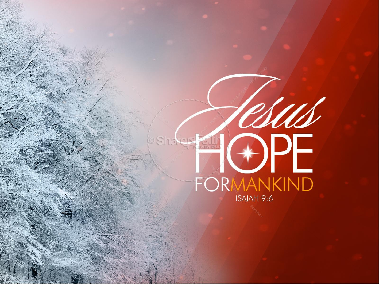 Jesus Hope For Mankind Christmas PowerPoint Sermon Template ...