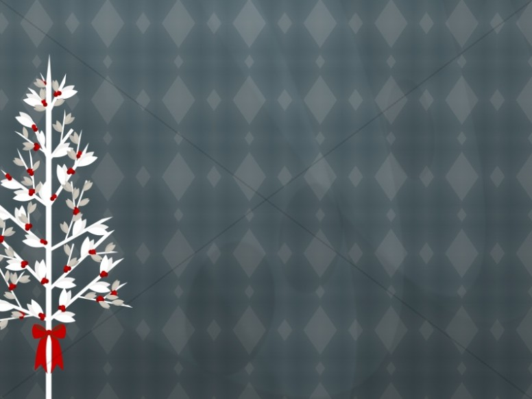 Christmas Tree Worship Background