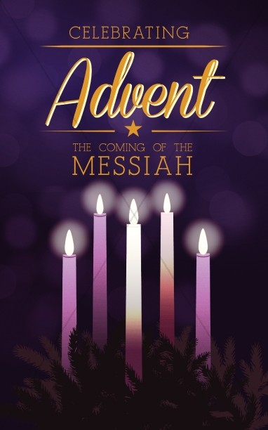 Advent Christmas Bulletin Template
