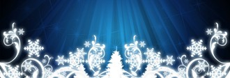Snowflake Scrollwork Website Banner