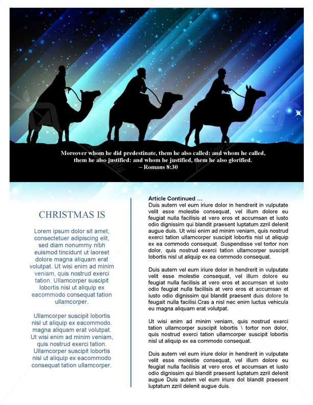 Christmas Messiah Newsletter Template