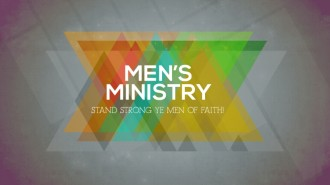 Mens Ministry Church Event Slide for Church