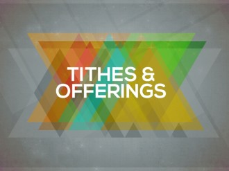 Tithes and Offerings Church Service Slide