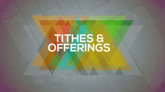 Tithes and Offerings Church Event Slide