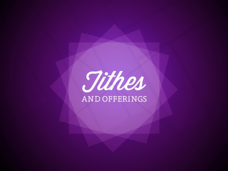 Tithes and Offerings Church Services Stills