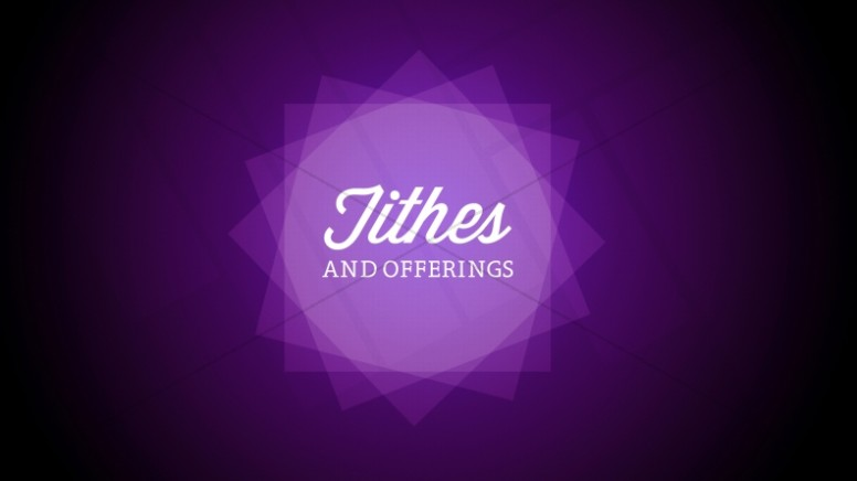 Tithes and Offerings Church Event Stills