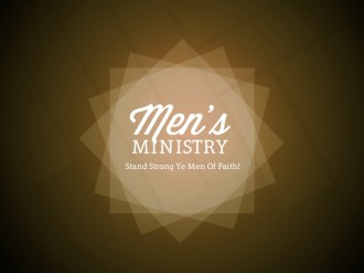 Mens Ministry Church Service Still