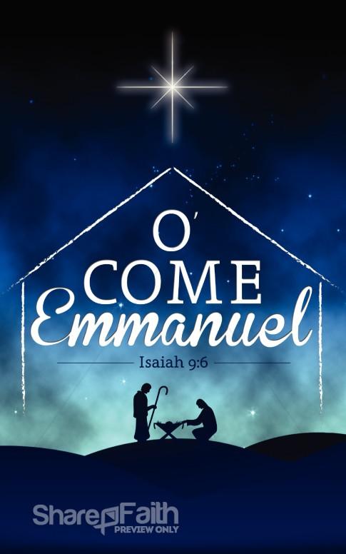 O Come Emmanuel Church Graphics  Christmas Graphics