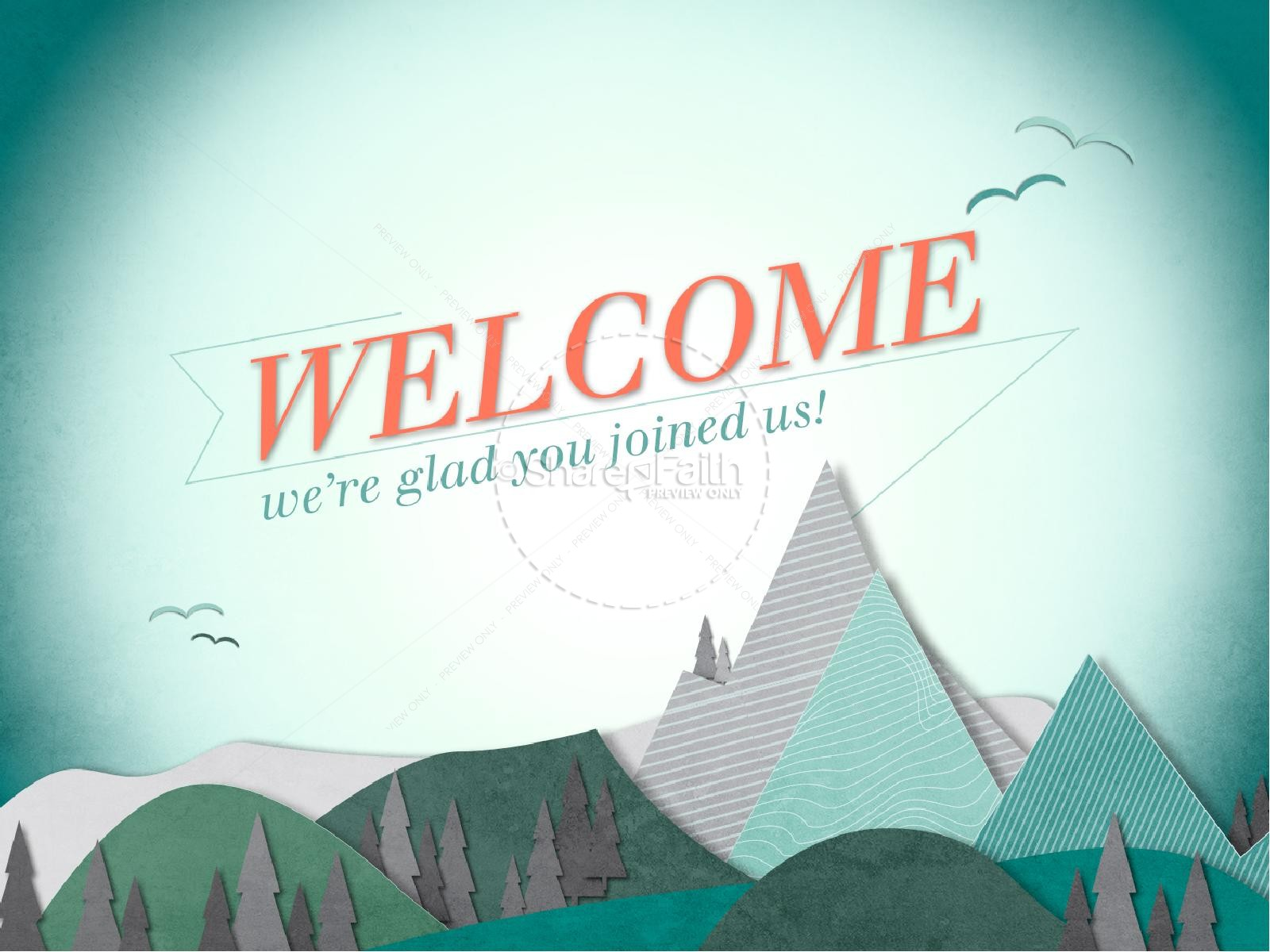 Happy New Year Mountains PowerPoint Template | slide 3
