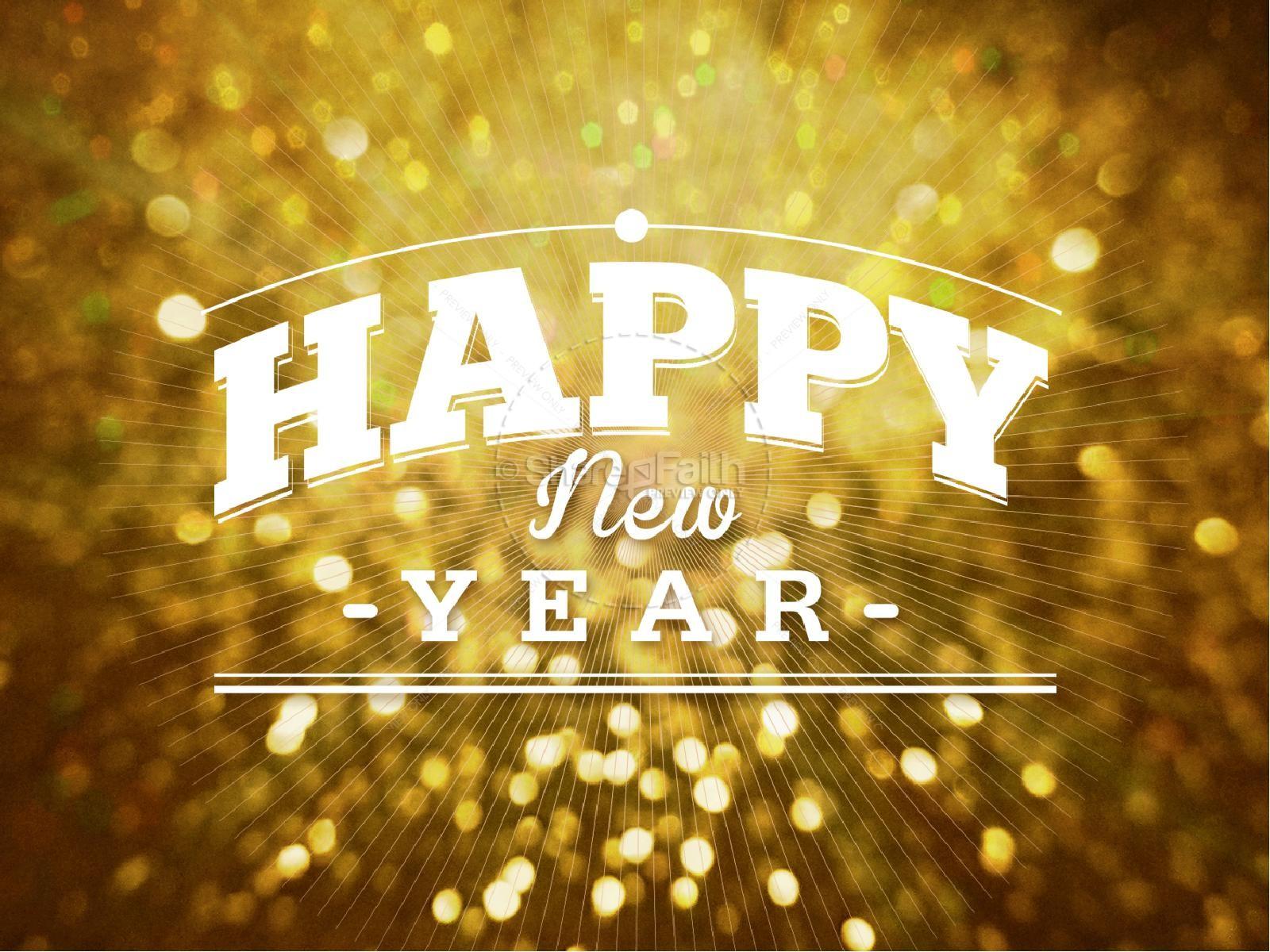 Happy New Year Celebration PowerPoint