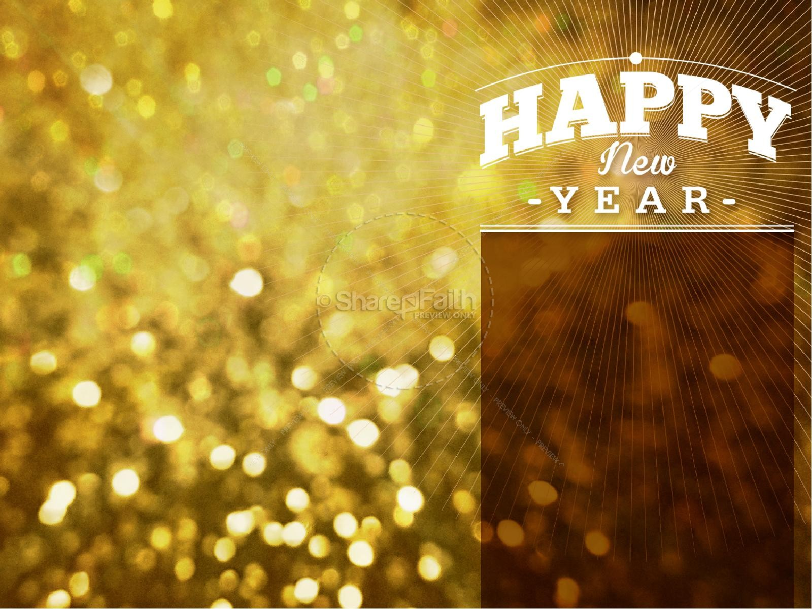 Happy New Year Celebration PowerPoint