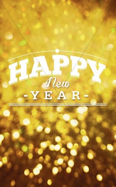 Happy New Year Bulletin Design