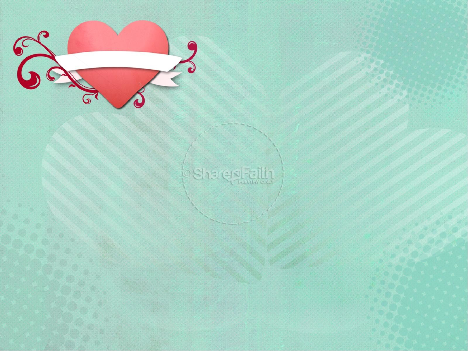Happy Valentine's Day Heart Template