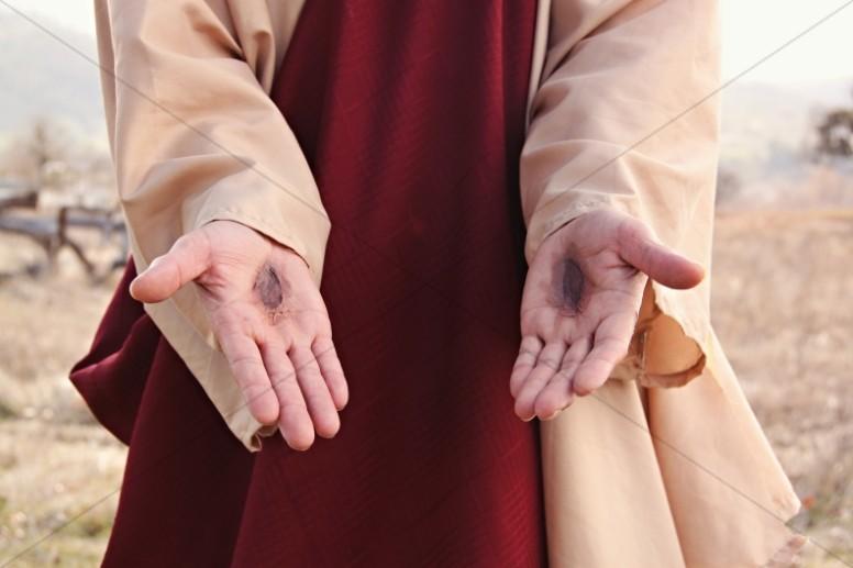 Nail Scarred Hands Faith Stock Photos