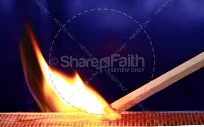 Light a Fire Christian Stock Photos
