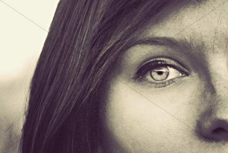 Eyes of Faith Stock Photos