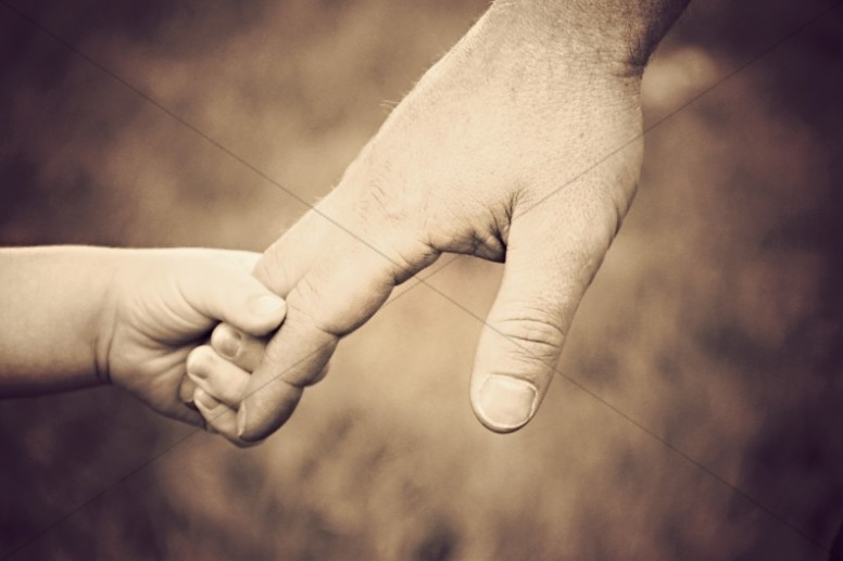 Hold Her Hand Christian Stock Images