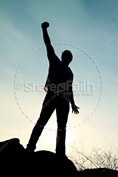 Triumphant Man Religious Stock Photos
