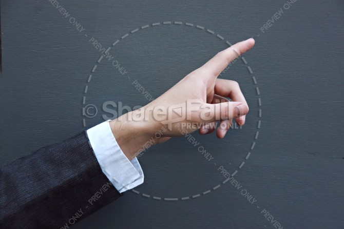 Pointing Hand Christian Stock Photos