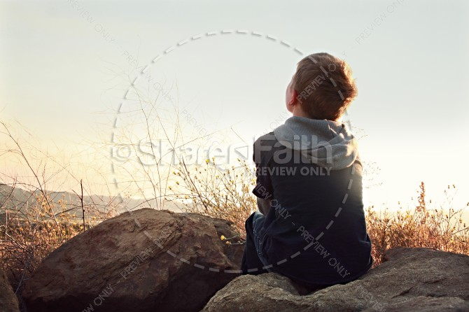 Child's Faith Christian Stock Photos