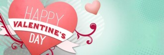 Happy Valentine's Day Website Banner