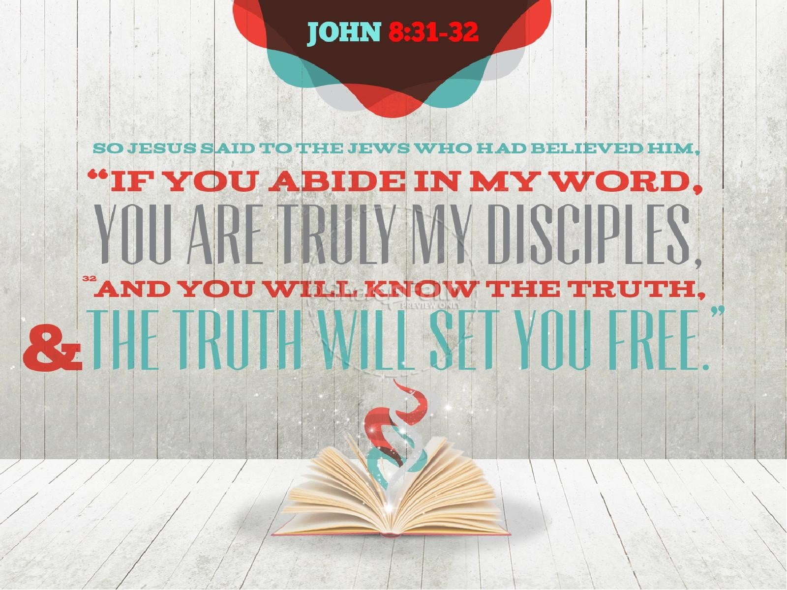 Gods Word Speaks Truth Bible Sermon PowerPoint Template