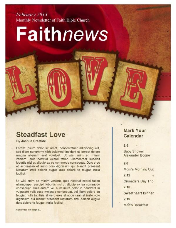 Love Letters Church Newsletter