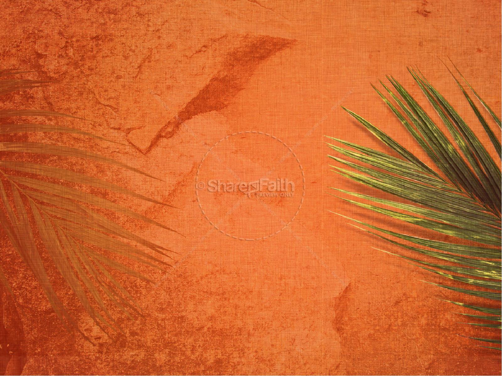 Palm Sunday Sermon PowerPoint Template