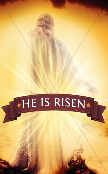Easter He Is Risen Bulletin Cover