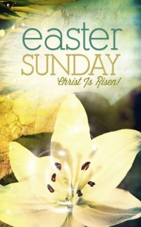 Easter Sunday Church Bulletin Design 