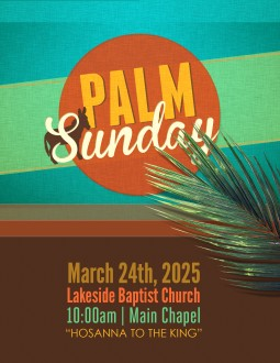 Flyer for Palm Sunday