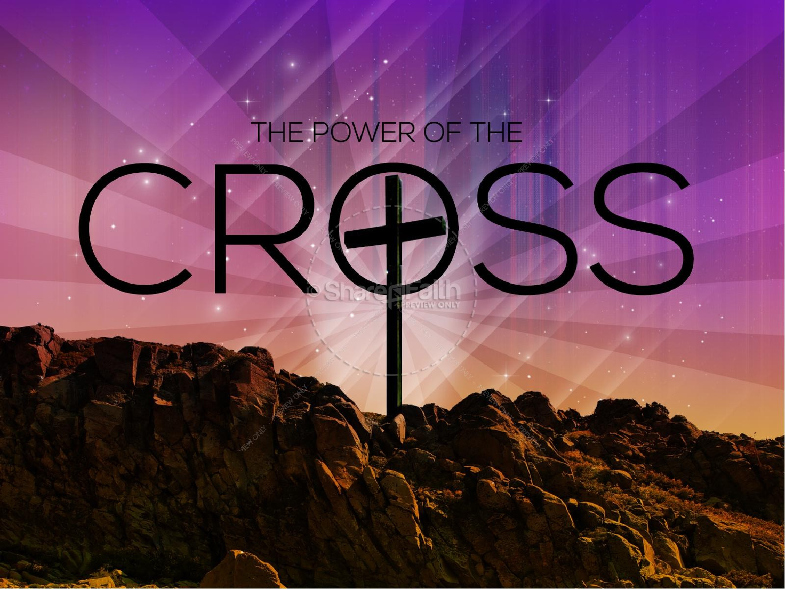 Easter Graphics The Power Of The Cross Sermon PowerPoints | slide 1