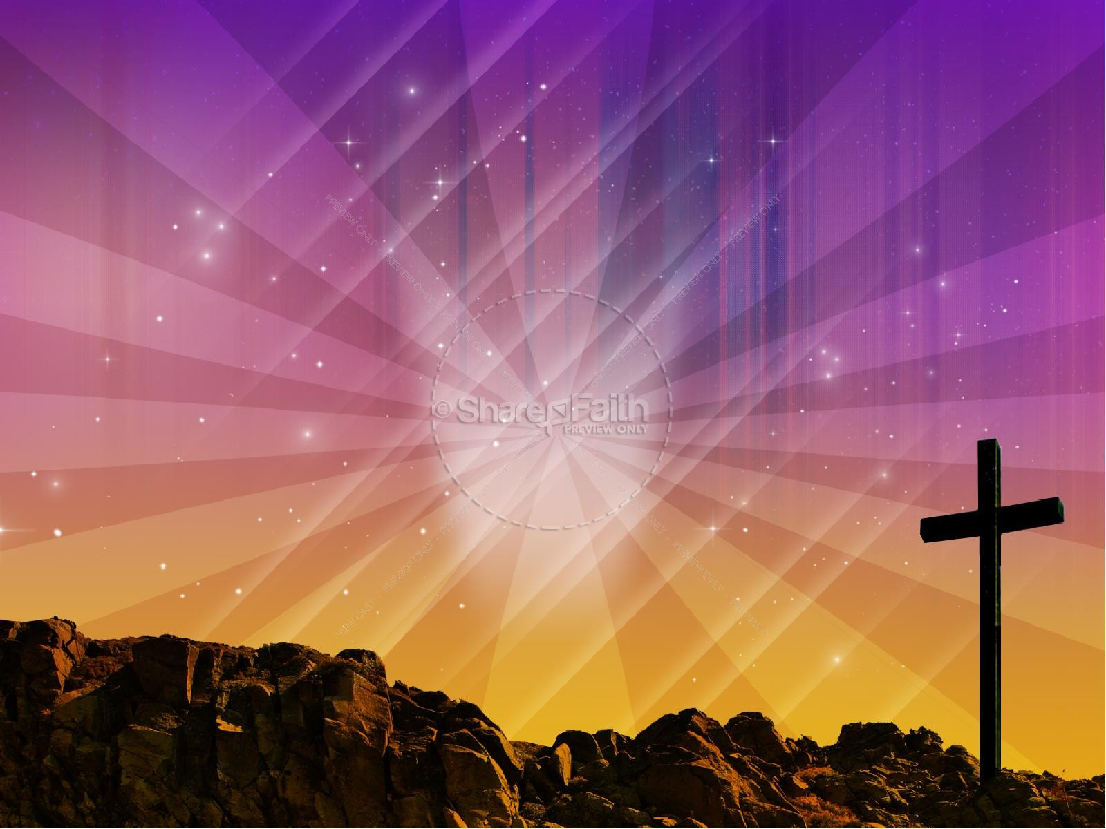 Easter Graphics The Power Of The Cross Sermon PowerPoints | slide 8